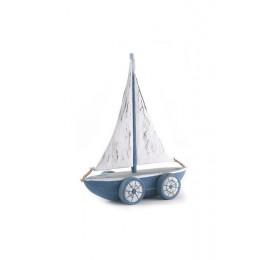 Barca a vela con rotelle